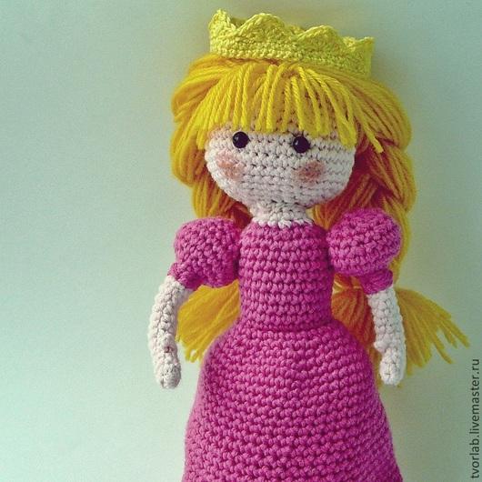 """Человечки ручной работы. Ярмарка Мастеров - ручная работа. Купить Кукла """"Принцесса"""". Handmade. Розовый, вязаная, хендмейд, кукла в подарок"""