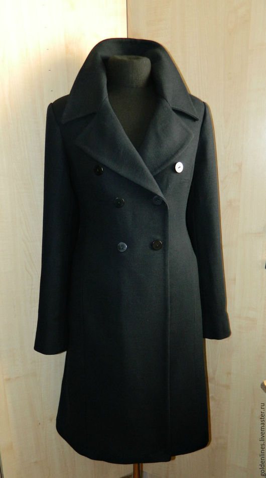 Верхняя одежда ручной работы. Ярмарка Мастеров - ручная работа. Купить пальто приталенный силуэт. Handmade. Тёмно-синий