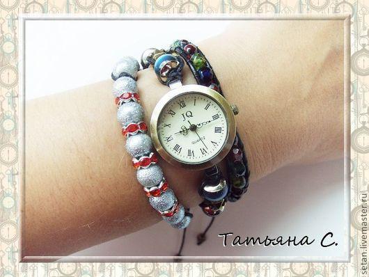 """Часы ручной работы. Ярмарка Мастеров - ручная работа. Купить Часы-шамбала """"Цветотерапия"""". Handmade. Часы, шамбала браслет"""