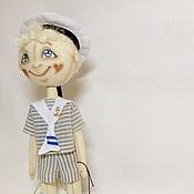 Куклы и игрушки ручной работы. Ярмарка Мастеров - ручная работа текстильная кукла Сережка-морячок. Handmade.