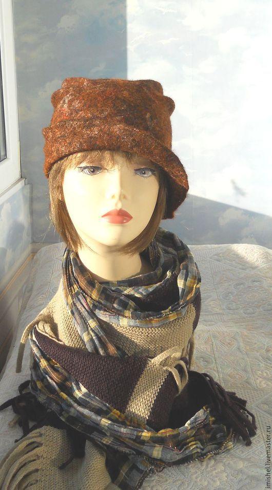 """Шляпы ручной работы. Ярмарка Мастеров - ручная работа. Купить шляпка """"Осень"""". Handmade. Осень, шляпы, шерсть 100%"""