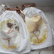 Одежда ручной работы. Ярмарка Мастеров - ручная работа Девушка-Весна и солнышко. Мешочек для хранения белья. Handmade.