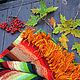"""Текстиль, ковры ручной работы. Ярмарка Мастеров - ручная работа. Купить Комплект коврик  и подушки """"Осенний"""""""". Handmade. Осень, коврики"""