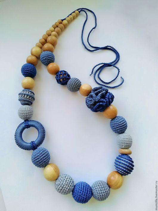 Можжевеловые слингобусы сине-серых оттенков