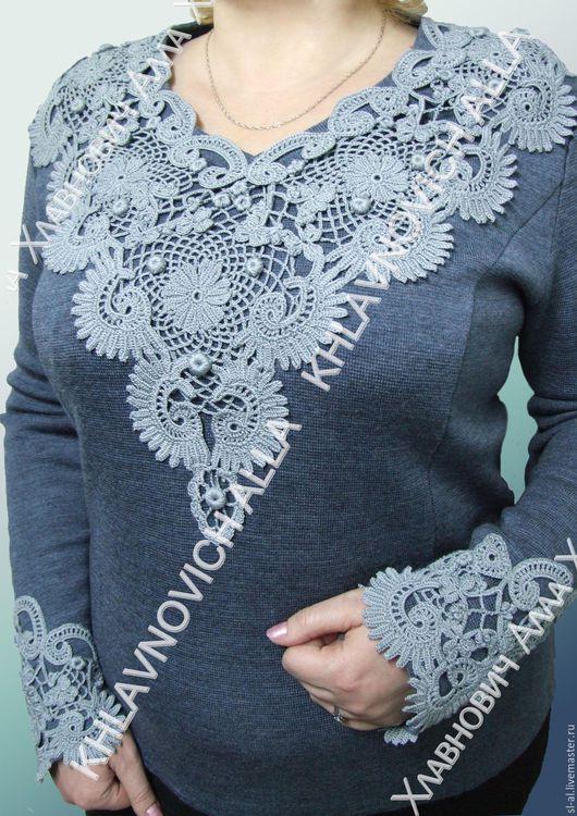 """Блузки ручной работы. Ярмарка Мастеров - ручная работа. Купить Блуза """"Ажурная пена"""" Модель №723. Handmade. Блуза вязаная"""