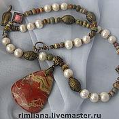 Украшения handmade. Livemaster - original item Vintage Style set-Necklace with pendant and earrings.. Handmade.