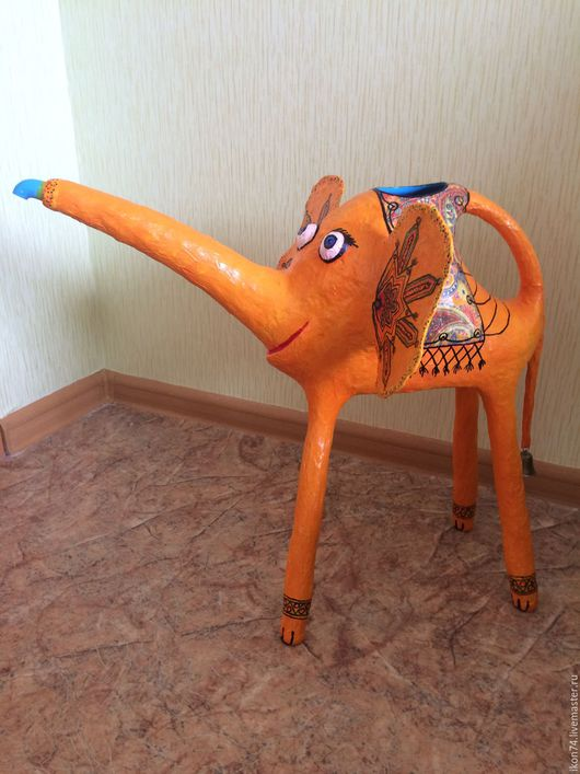 Элементы интерьера ручной работы. Ярмарка Мастеров - ручная работа. Купить Слон - лейка. Handmade. Слон, подарок, интерьер, полезный
