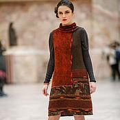 """Одежда ручной работы. Ярмарка Мастеров - ручная работа валяный платье-сарафан """"Ethno"""". Handmade."""