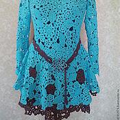 Одежда ручной работы. Ярмарка Мастеров - ручная работа Платье Бирюса в шоколаде. Handmade.
