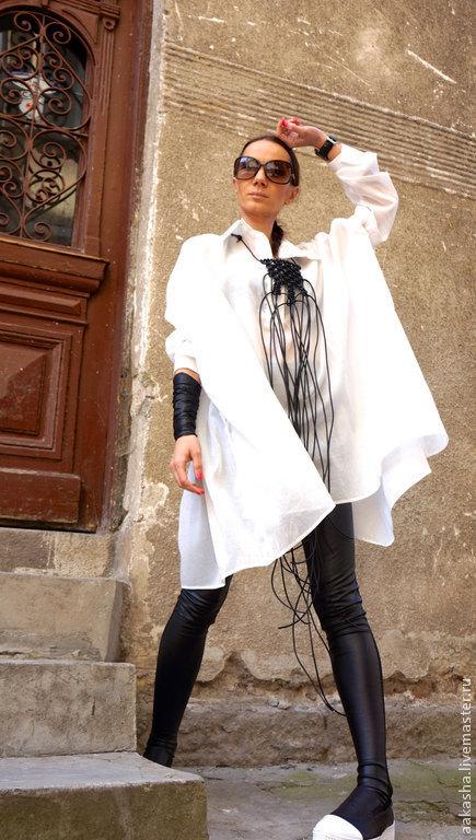Блузки ручной работы. Ярмарка Мастеров - ручная работа. Купить Рубашка Light Cotton. Handmade. Белый, туника на лето