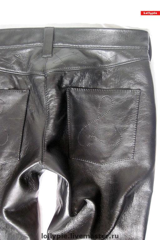 Брюки, шорты ручной работы. Ярмарка Мастеров - ручная работа. Купить Кожаные джинсы. Handmade. Натуральная кожа, кожа натуральная