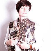 """Одежда ручной работы. Ярмарка Мастеров - ручная работа Жилет валяный """"Флисовый микс-2"""" войлок. Handmade."""
