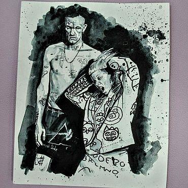 """Картины и панно ручной работы. Ярмарка Мастеров - ручная работа Рисунок группа """"Die Antwoord"""". Handmade."""