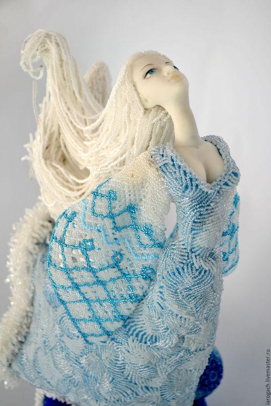 """Коллекционные куклы ручной работы. Ярмарка Мастеров - ручная работа. Купить Авторская кукла, кукла из бисера """"Зима"""". Handmade. подарок"""