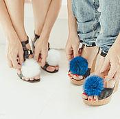 Аксессуары ручной работы. Ярмарка Мастеров - ручная работа Меховые помпоны для обуви. Handmade.