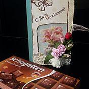 Открытки ручной работы. Ярмарка Мастеров - ручная работа Открытка-шоколадница. Handmade.