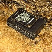 Сумки и аксессуары handmade. Livemaster - original item Cigarette case (sigaretta). the coat of arms of Russia. Handmade.