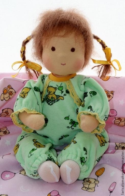 Вальдорфская игрушка ручной работы. Ярмарка Мастеров - ручная работа. Купить Беби с косичками, вальдорфская кукла , 34см. Handmade.