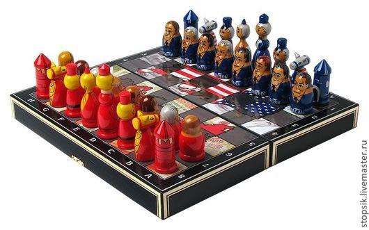 Настольные игры ручной работы. Ярмарка Мастеров - ручная работа. Купить Шахматы Америка (13429). Handmade. Шахматы, необычный подарок