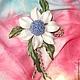 """Заколки ручной работы. Ярмарка Мастеров - ручная работа. Купить Брошь-цветок  из  натуральной  кожи """"Весенний  сон"""". Handmade. Белый"""