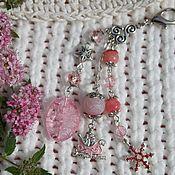 """Аксессуары ручной работы. Ярмарка Мастеров - ручная работа Брелок для сумки """"Розовый лед"""". Handmade."""