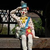 """Для дома и интерьера ручной работы. Ярмарка Мастеров - ручная работа """"Клоун и кот"""".Статуэтка.. Handmade."""