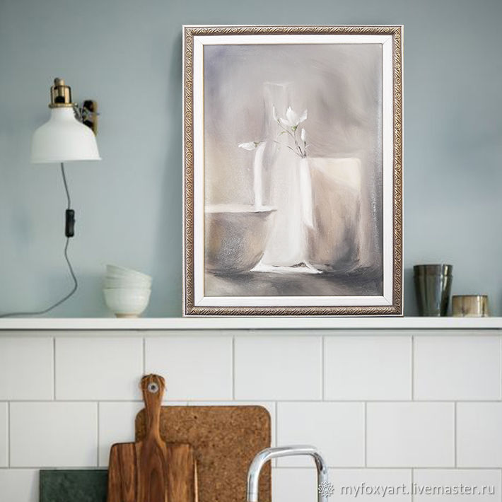 Still life, oil painting on canvas, framed, for kitchen, Pictures, St. Petersburg,  Фото №1