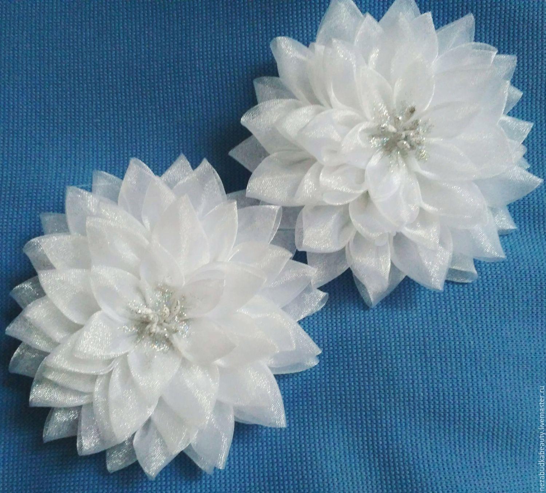 идеальные красивые белые банты канзаши пошаговое фото отрицательных