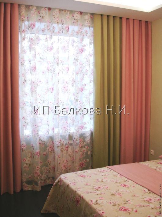 Текстиль, ковры ручной работы. Ярмарка Мастеров - ручная работа. Купить Портьера МАДЛЕН. Handmade. Розовый, цветочный, пошив штор
