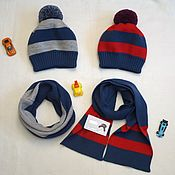 Аксессуары handmade. Livemaster - original item The hood and yoke of a wool mixture