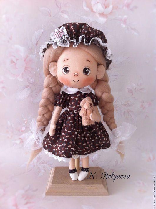 """Коллекционные куклы ручной работы. Ярмарка Мастеров - ручная работа. Купить Куколка """"Дуняша"""". Handmade. Коричневый, ручная работа"""