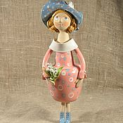 Куклы и игрушки handmade. Livemaster - original item Doll ceramic Girl with lilies. Handmade.