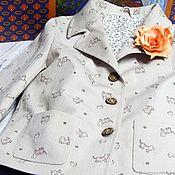 Одежда handmade. Livemaster - original item Jacket with dogs and lace skirt. Handmade.
