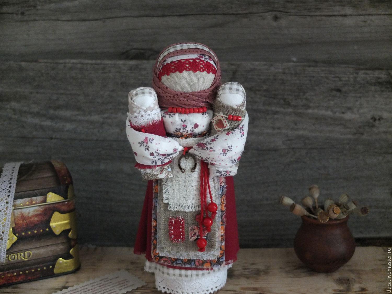 "Doll - Mammy with two pelenashkami double profit ""Winter Cherry"", Folk Dolls, Novokuznetsk,  Фото №1"