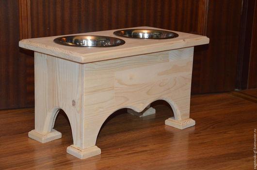 Аксессуары для собак, ручной работы. Ярмарка Мастеров - ручная работа. Купить Подставка под миски для средних собак 2. Handmade.
