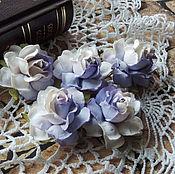 Цветы искусственные ручной работы. Ярмарка Мастеров - ручная работа Цветы розы двухцветные 5 шт. Handmade.