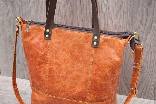 Женские сумки ручной работы. Ярмарка Мастеров - ручная работа. Купить Сумка-Винтажная Рыжая ......... Handmade. Рыжий, купить сумку