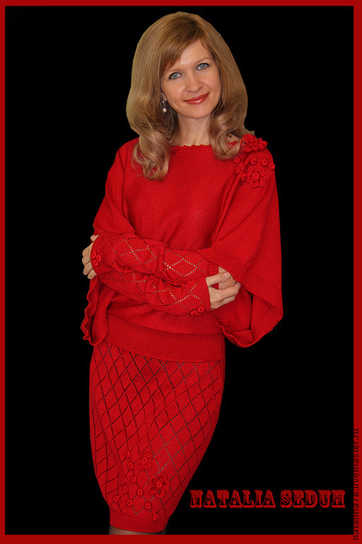 Костюмы ручной работы. Ярмарка Мастеров - ручная работа. Купить Костюм Lady In Red красный костюм из полушерсти мериноса. Handmade.
