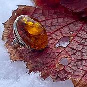 Винтаж handmade. Livemaster - original item Crimson Peak. Ring with amber.. Handmade.
