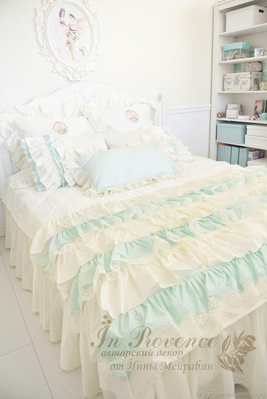 Покрывалo и комплект подушек в спальню в стиле пованс,шебби,винтаж, Покрывала, Краснодар,  Фото №1
