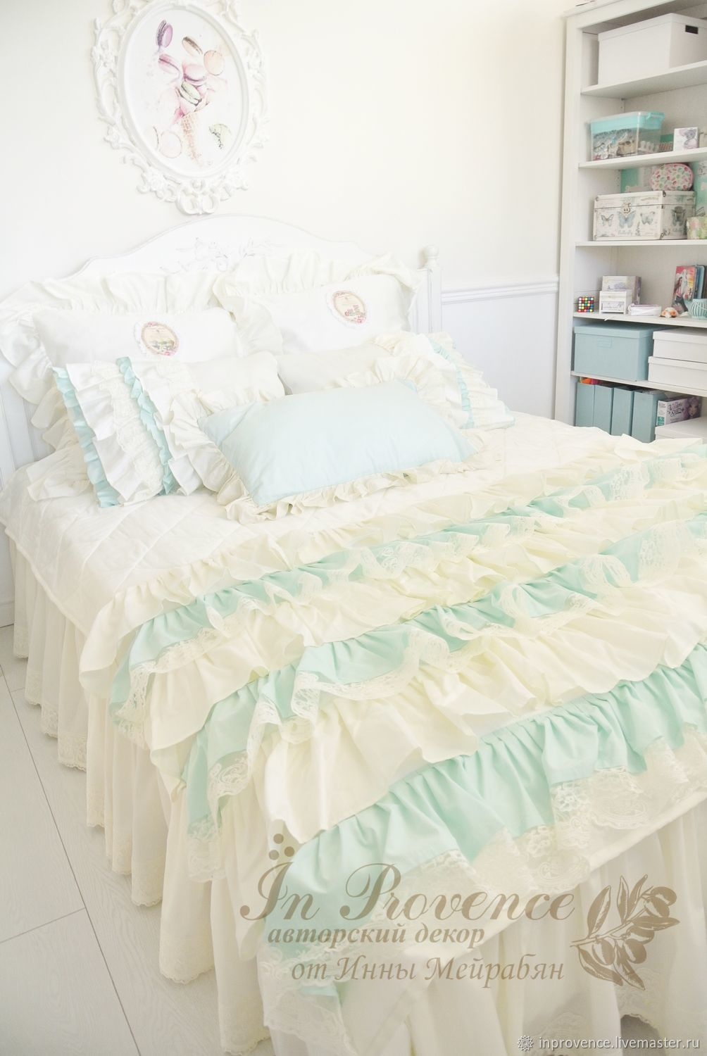 Bedspread and set of pillows in the bedroom in the style of pavans,shabby,vintage, Bedspreads, Krasnodar,  Фото №1