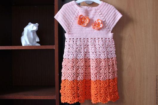 """Одежда для девочек, ручной работы. Ярмарка Мастеров - ручная работа. Купить Платье для девочки """"Бабочки"""". Handmade. Платье для девочки"""