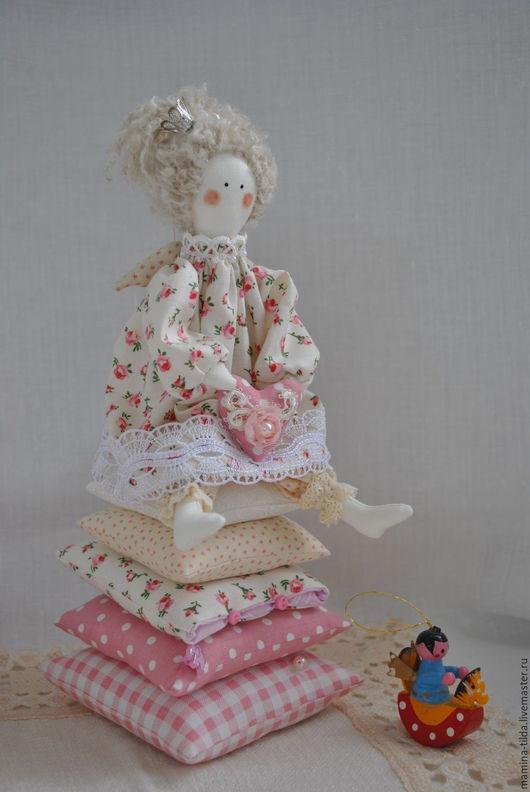 Куклы Тильды ручной работы. Ярмарка Мастеров - ручная работа. Купить Розовое утро (Принцесса на горошине в стиле шебби-шик). Handmade.