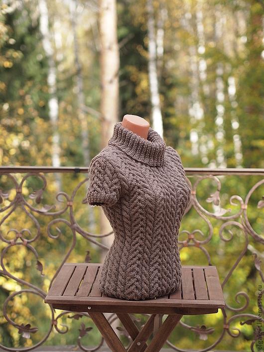 """Кофты и свитера ручной работы. Ярмарка Мастеров - ручная работа. Купить пуловер  """"Шоколадный"""". Handmade. Женский пуловер, нарядный свитер"""