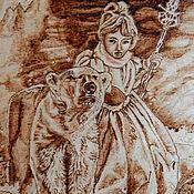 """Картины и панно ручной работы. Ярмарка Мастеров - ручная работа Картина """"В зимней стране"""". Handmade."""