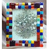 Подарки к праздникам ручной работы. Ярмарка Мастеров - ручная работа Фоторамка из цветного стекла. Handmade.