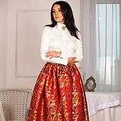 Одежда ручной работы. Ярмарка Мастеров - ручная работа Юбка-королева-красное золото. Handmade.
