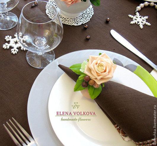 кольца для салфеток праздничный декор стола