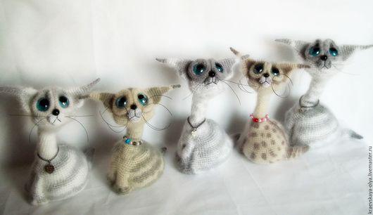 Игрушки животные, ручной работы. Ярмарка Мастеров - ручная работа. Купить Сиамчик.. Handmade. Кот в подарок, сиамский, оригинальный подарок