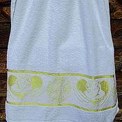 Работы для детей, handmade. Livemaster - original item Towel for baptism 140/70 rim. Handmade.